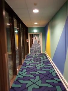 Colourfull hallway
